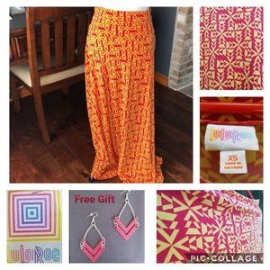 NWT LuLaRoe XS Red & Yellow Maxi Skirt/Dress